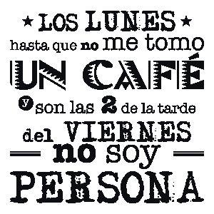 Vinilos Textos El Café del Lunes