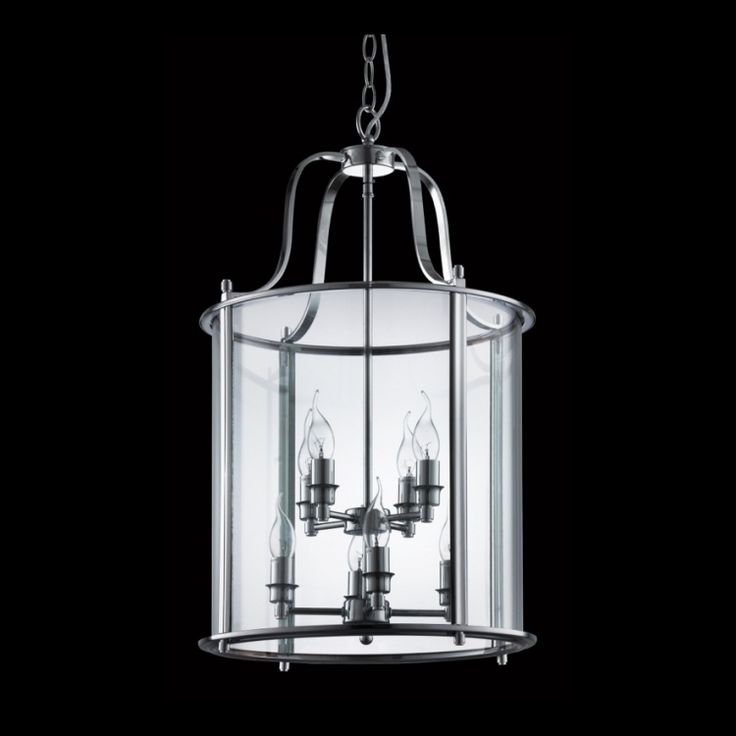 Large Round Glass Lantern