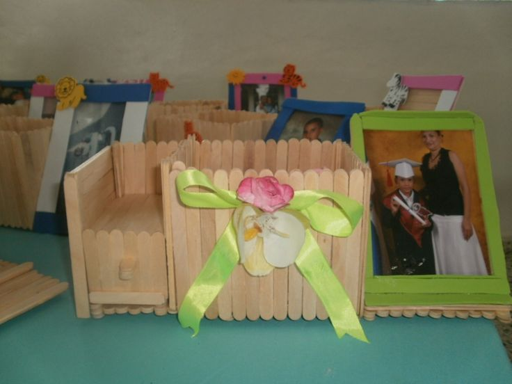 Manualidades con Palitos de paleta Cuna  Barbie  Muebles