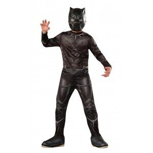 Black Panther Economy Kids Costume Price: $29.00  From Captain America: Civil War this economy costume includes a printed jumpsuit and mask.  Perfect for your favorite Captain America comic book or The Avengers fan for Halloween or cosplay.  Officially Licensed Marvel Costume from The Avengers.  #cosplay #costumes #halloween