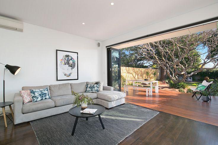 Living area opens to alfresco entertaining deck