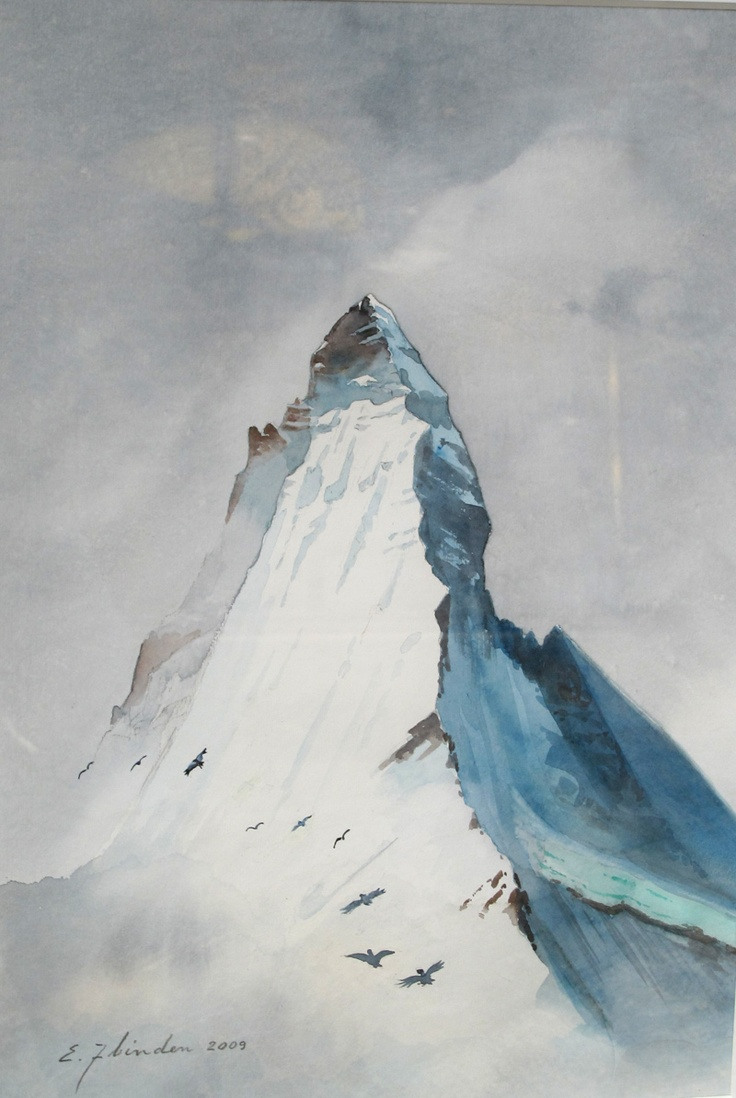 Mountain painting from Switzerland