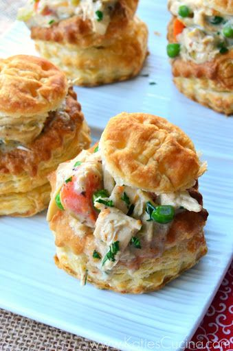 chicken pot pies in puff pastry shells mmm recipes chicken food meats ...