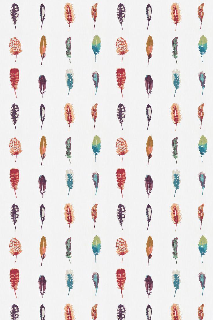 Limosa Papaya/Lagoon/Loganberry fabric by Harlequin