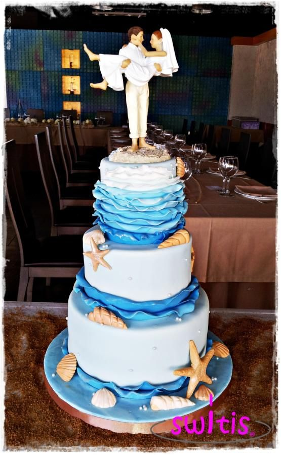 76 best Beach Wedding Cakes images on Pinterest Conch fritters
