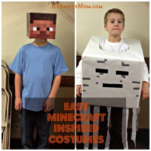 easy minecraft inspired costumes diy last minute costume ideas - Quick And Easy Homemade Halloween Costumes For Kids