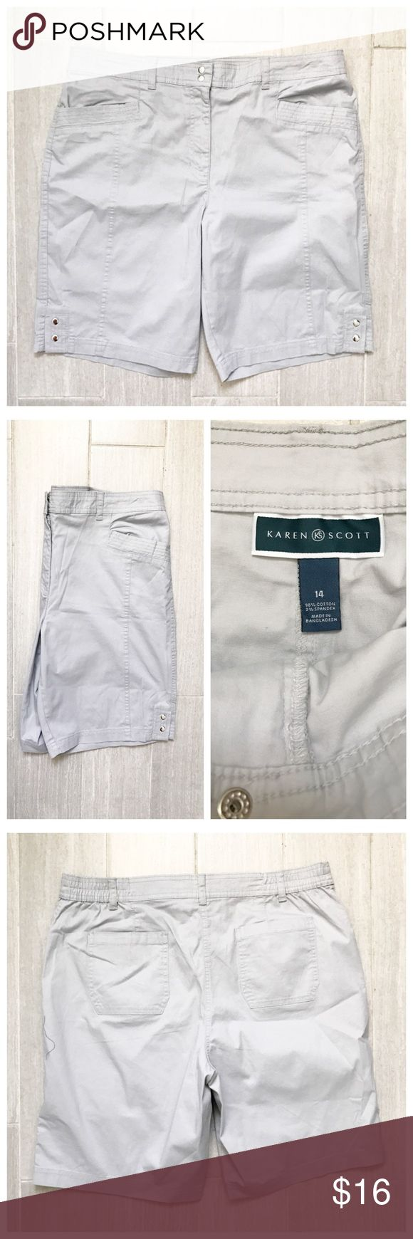Light Gray Shorts Very pale grey shorts. Pockets. Karen Scott. BUNDLES 20% OFF 🎉 Karen Scott Shorts