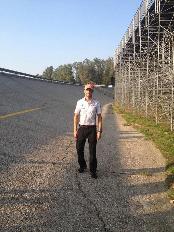 Jenson Button at Monza Sept 2013