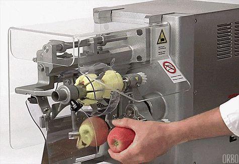 Peeling apples endlessly...