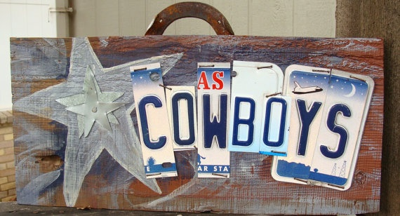 A football decor piece that I would allow my husband to have outside the man cave! I love it :)