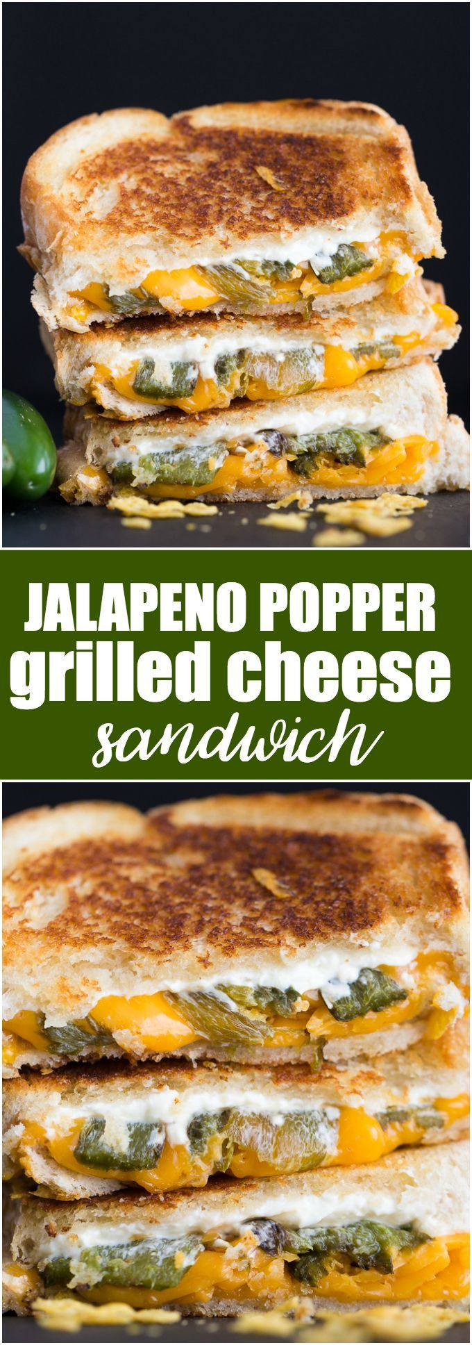 Jalapeno Popper Grilled Cheese Sandwich - Take your lunch to a whole new spicy level!