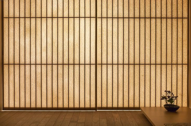 "Ginzan Onsen Fujiya (2006) | Yamagata, Japan • Kengo Kuma + Associates. ""These bamboo screens, neither transparent nor opaque, provide a soft light and shade the interior creating a space to heal and relax, complementing the effects of bathing in an Onsen."" ― Kengo Kuma + Associates"