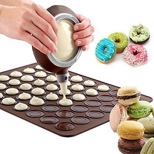 Baking Mats Large NonStick 48 Cycle Silicone Macaron Macaroon Pastry Cake Baking MatDecoration Pen Bakeware Sets Butter Baking Tool Sheet Mold Kit 2 * This is an Amazon Affiliate link. You can find more details by visiting the image link.