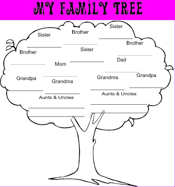 My Family Tree Template Image Collections Template Design Free