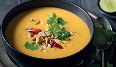 Peanut satay butternut soup