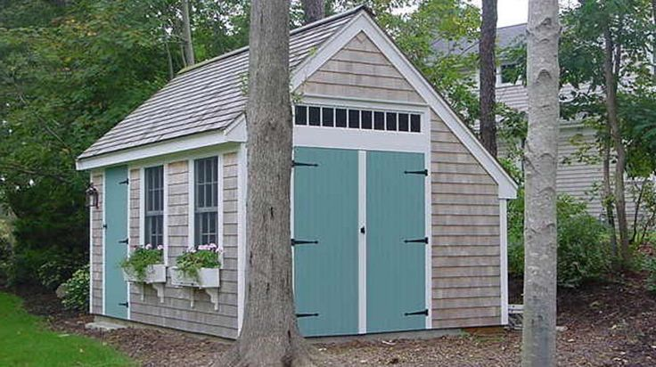 Love these little storage sheds.  So Cute!