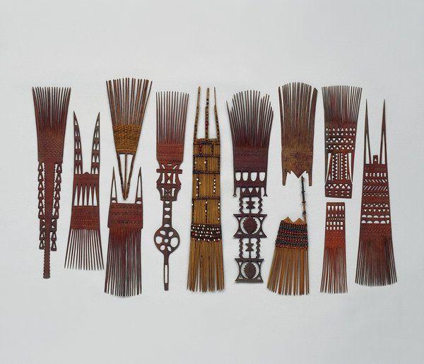 Polynesian Hair Combs from Samoa, Tonga, and Fiji (1800 to 1900 Fiji / Tonga / Samoa)
