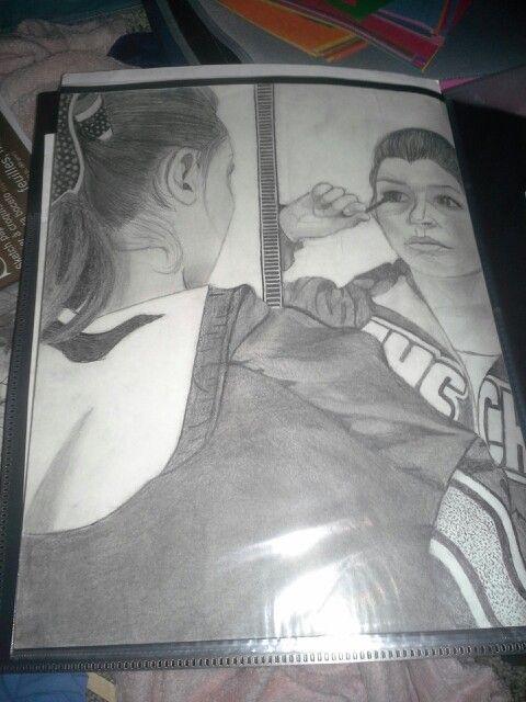 Reflective drawing.