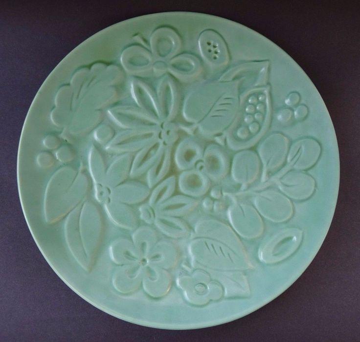 LARGE Vintage Green Gefle Sweden Scandinavian Pottery Plate Charger Platter MCM   eBay