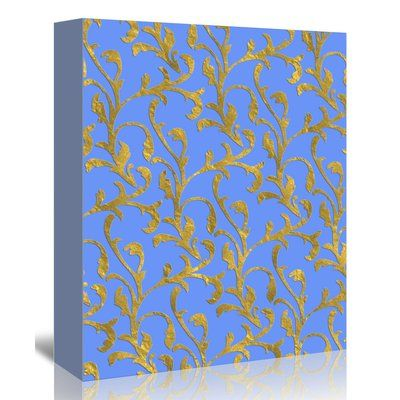 "East Urban Home 'Floral Damask Patterns' Graphic Art Print on Canvas Size: 48"" H x 32"" W x 1.5"" D"