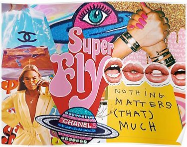 'SUPER FLY COLLAGE' Poster by voguemode
