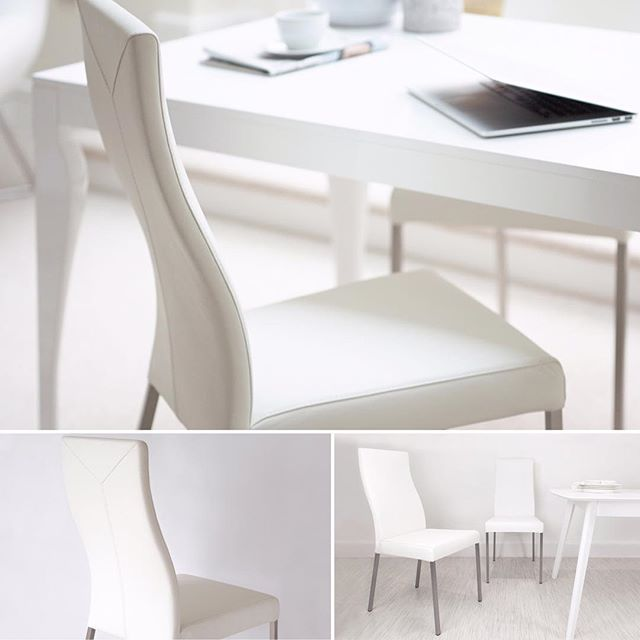 you cannot go wrong with white check out the iva real leather dining chairs for a modern classic style danetti allwhite interiors