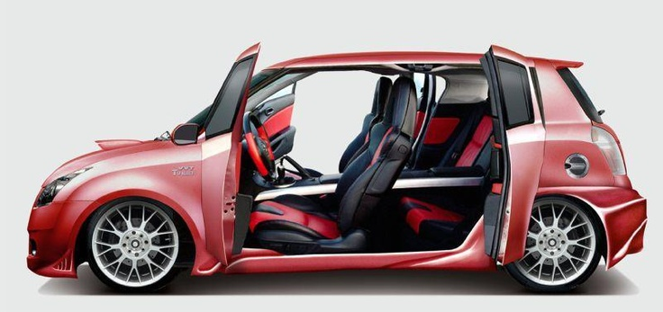 Suzuki Swift Turbo with these doors is on my wish list!