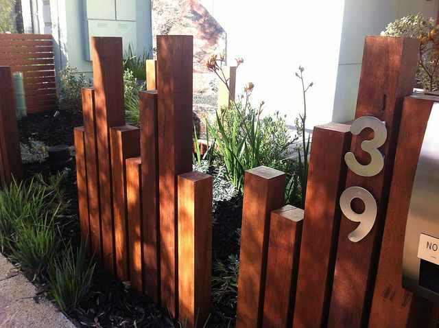 Lochiel Park. I love the use of the wood to make a styled informal fence. Yet again, kangaroo paws are featured.