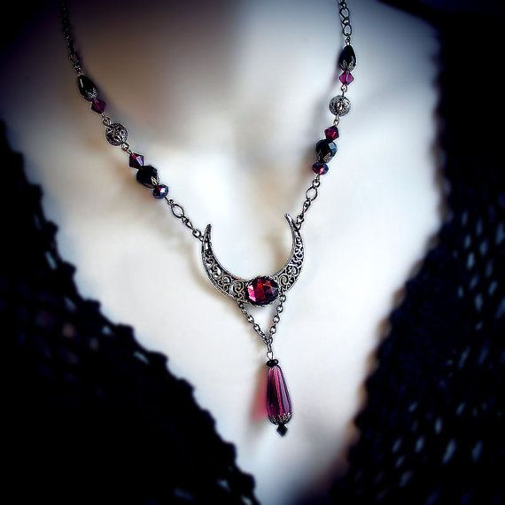 Hey, I found this really awesome Etsy listing at https://www.etsy.com/uk/listing/251943605/violet-moon-necklace-silver-filigree