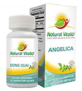 Angelica by Natural Vitality. $22.97. La reina de las hierbas mas populares para la mujer.  Utilizada para fortalecer la sangre, promover la circulacion, regular la menstruacion y calmar los nervios.