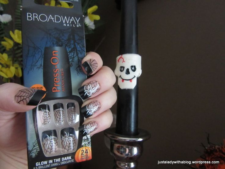 I am really loving these press on nails! My natural nail is about halfway grown out now from the damage from having the nail technician destroy them with some kind of gel thing. So probably about a…