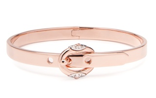 Buckle up Baby Bangle in rose gold