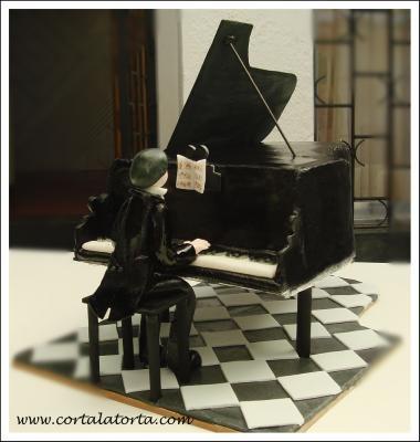 Increíble torta de pianista