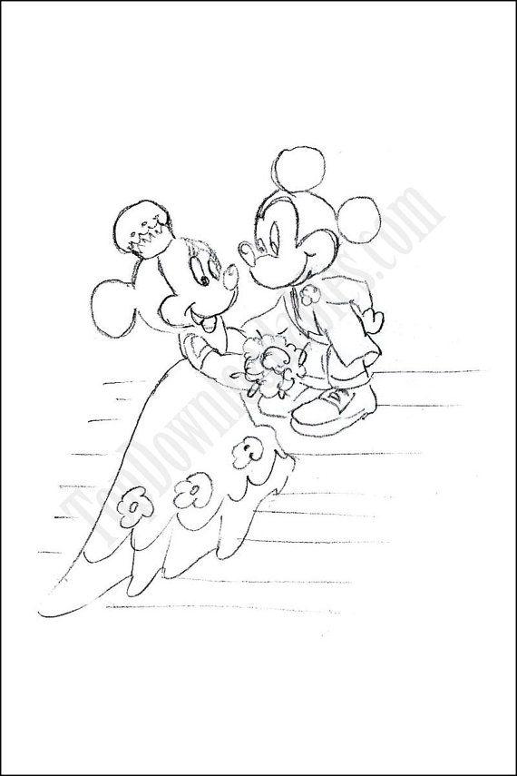 Disney Wedding Coloring Page Kids