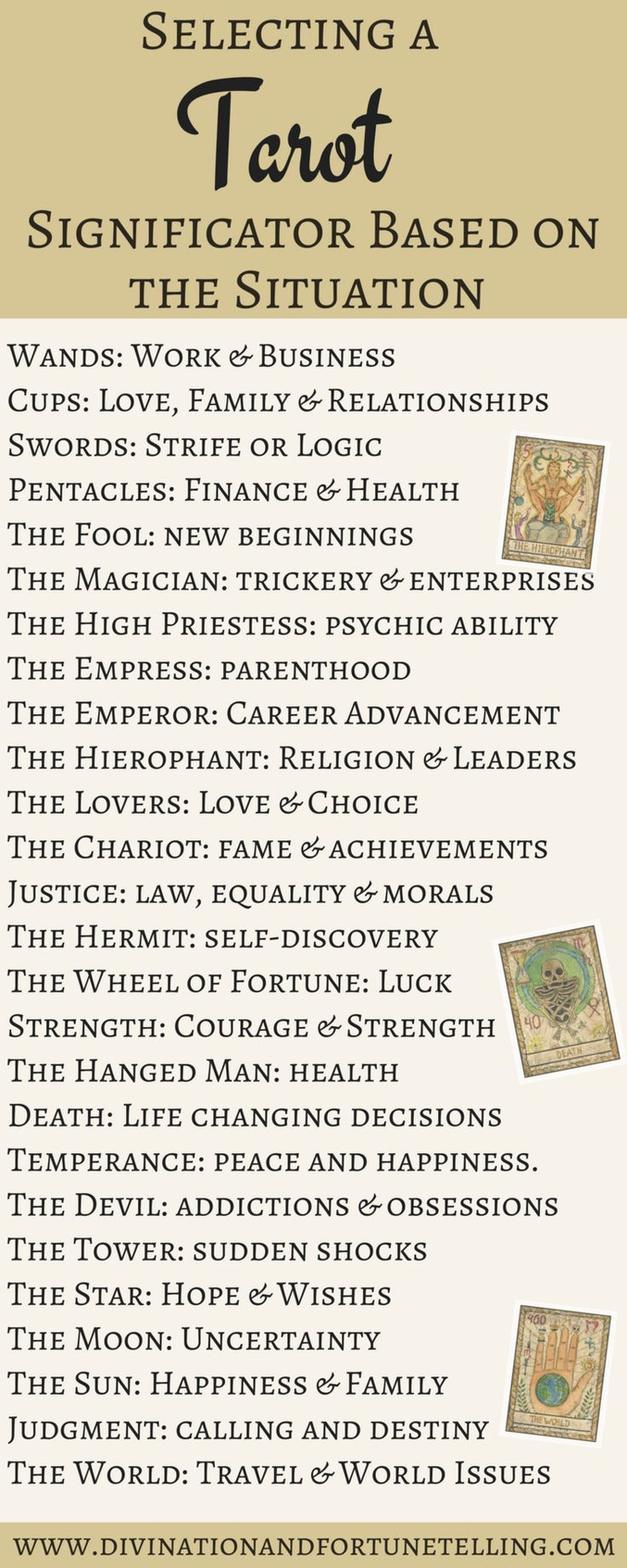 96 best tarot tea leaves and mystical stuff images on pinterest how to select a tarot significator fandeluxe Gallery