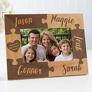 Personalized Puzzle Picture Frame - Together We Make A Family - 4x6 - For The Home