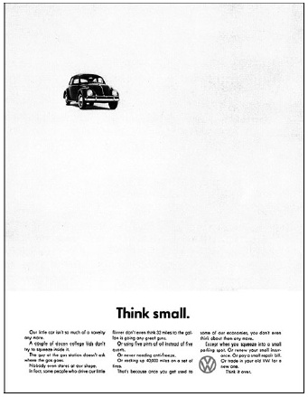 It's Tutorial Tuesday! Let's look at how white space is an active design element ~ not wasted space ~ with the most iconic ad campaign of all time.