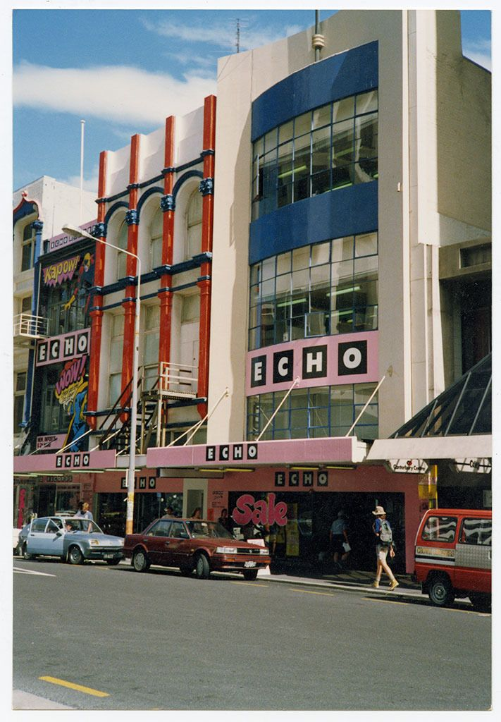 Echo Record Shop, High Street, Christchurch, New Zealand. 1990's.