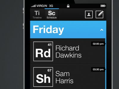 UltraUI | UI Design & Inspiration — Atheist Convention for iPhone