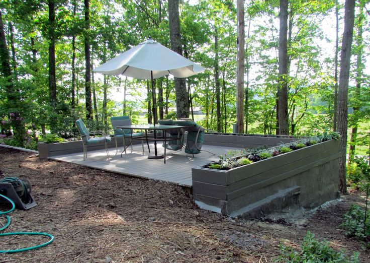 Deck Built Into Slope 90 Done Stucco On Sides Deck