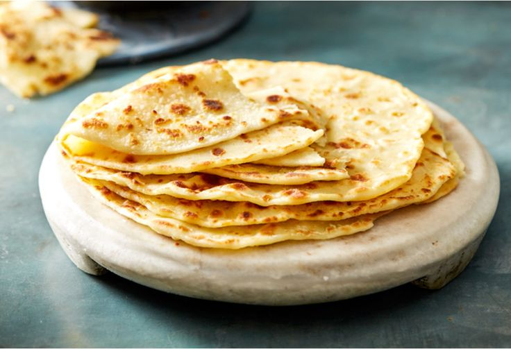 Pair this simple flatbread with grilled meats or fish and salad for delicious homemade wraps