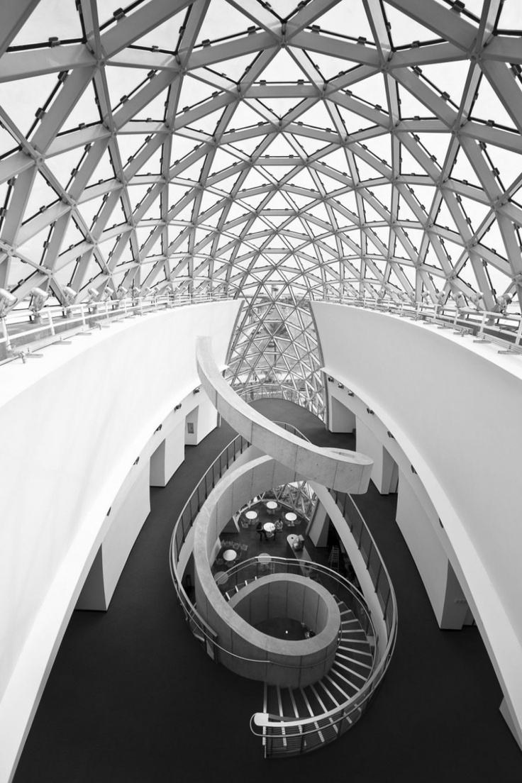 The Salvador Dali Museum Spirals Staircase Design. Really cool and trippy. not sure who did this, and this site has a lot of images from the museum