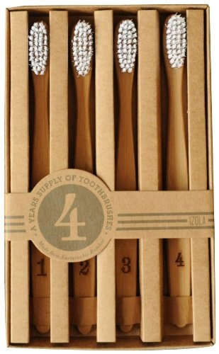 Izola 802 Numeral Toothbrushes, Set of 4