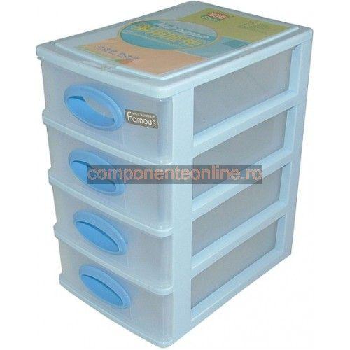 Raft din plastic cu 4 sertare - 127841