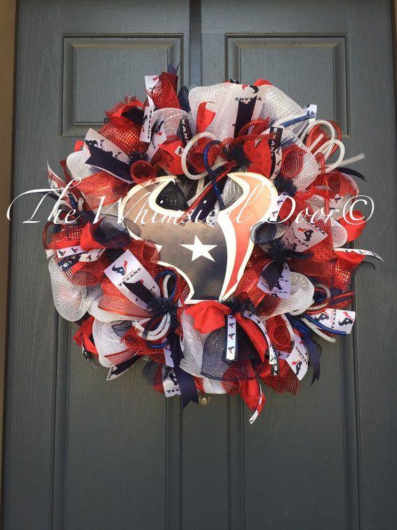 Houston Texans Wreath Texans Football Wreath by TheWhimsicalDoor