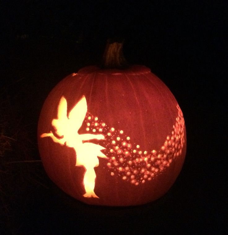 Tinker bell pumpkin holiday decorating ideas pinterest for How to carve tinkerbell in a pumpkin