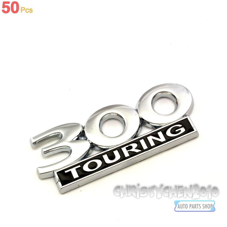Rhino Tuning 50PC 300 Touring Metal Badge Emblem Sticker Car Body Side Wing Trunk Boot For 300 Series LIVERY