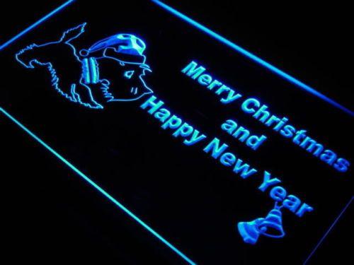 Scottie Dog Christmas Bell Neon Light Sign