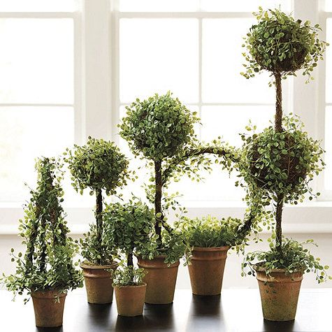 ideas for me to make my topiaries for the wedding!