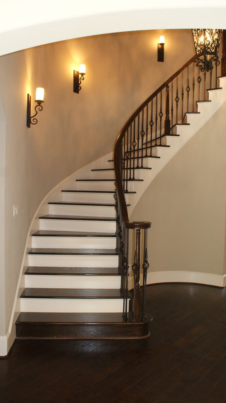 The Completed Staircase Using Our Powder Coated Wrought